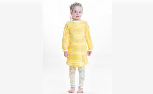 tivoli legginssit ja keltainen raita mekko